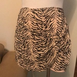 BCBG mini front tie skirt